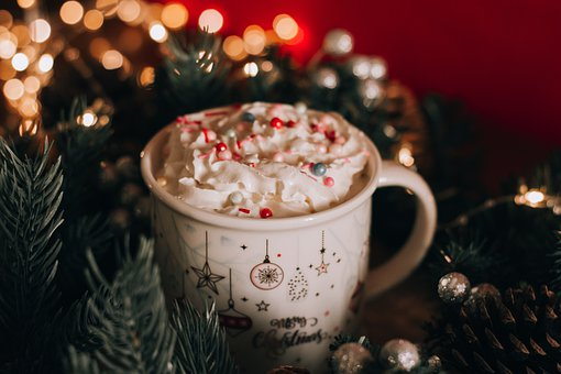Cup, Drink, Dessert, Sweet, Christmas, New Year's Eve