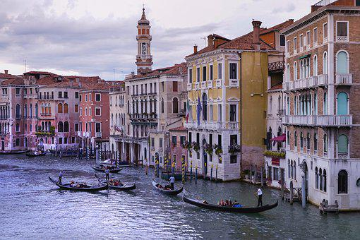 Venice, Romantic, Italy, Architecture, Gondola