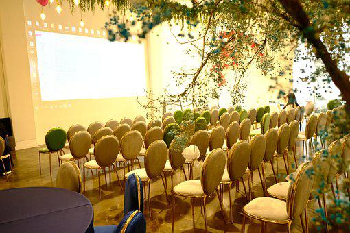 Chairs, Conference Hall, Presentation, Powerpoint