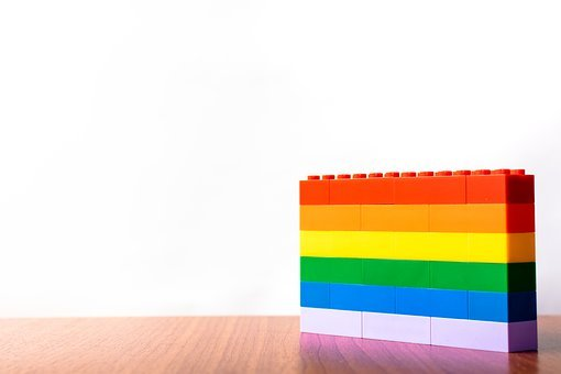 Lego Blocks, Flag, Colorful, Lgbt, Heart, Pride