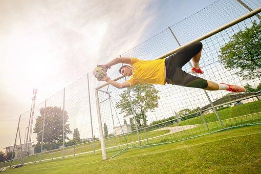 Goalkeeper, Ball, Keeper, Football, Footballers, Sport