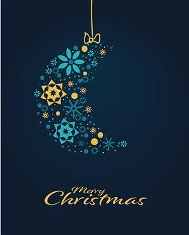 Moon, Ornaments, Christmas, Decoration