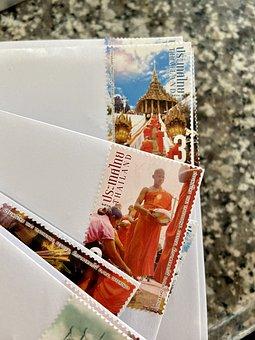 Stamp, Post, Thailand, Buddhism, Pagoda