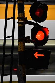 Railway Crossing, Red, Light