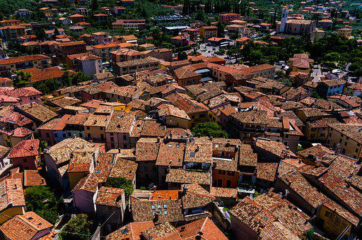 Rooftops, Roofs, Buildings, Town, Village, Urban