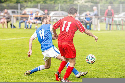 Players, Soccer, Football, Duel, Sport, Sports Ground