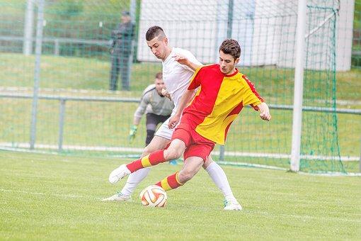 Ball, Soccer, Football, Duel, Sport, Sports Ground