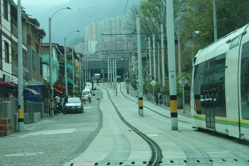 Road, Street, Cars, Vehicles, Train, Tracks