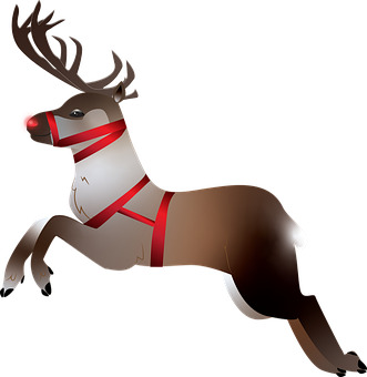 Reindeer, Caribou, Rudolph, Isolated, Transparent