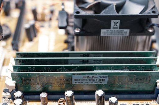 Circuit Board, Ram Memory, Memory Modules, Circuits