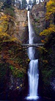 Multnomah Falls, Columbia Gorge, Waterfall, Scenic