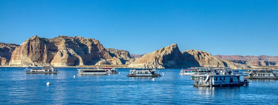 Lake, Powell, Arizona, Landscape, Nature, Water, Usa
