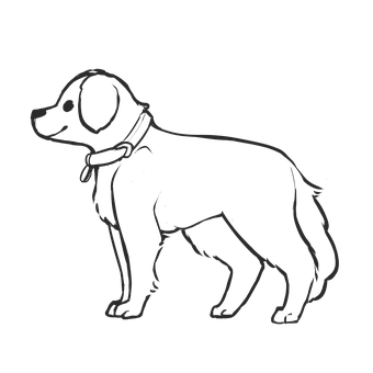 Dog, Puppy, Outline, Pet, Animal, Mammal, Canine, Cute