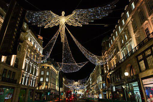 Regents Street, London Lights, London, Urban