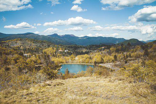 Lake, Landscape, Sky, Nature, Water, Forest, Mountains