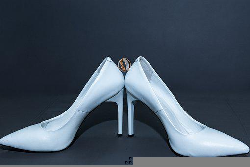 Shoes, Wedding, Ring, White, Style, Bride, Marriage