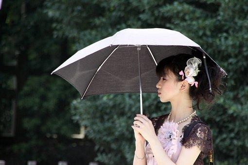 Girl, Umbrella, Fashion, Woman, Young Woman, Beauty