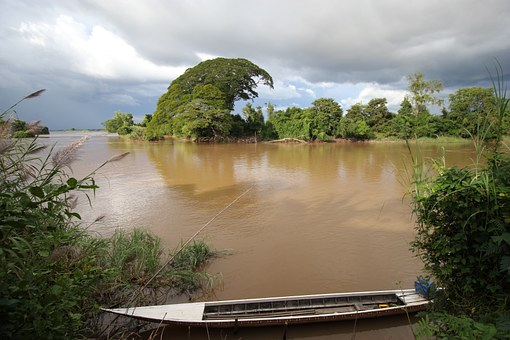Boat, Water, Don Det, Laos, Si Phan Don, 4000 Islands