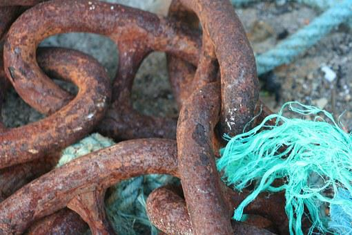 Mooring Chain, Texture, Rust, Chain, Iron, Old, Boat
