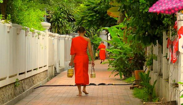 Laos, Luangprabang, Monk, Bud, Buddhism