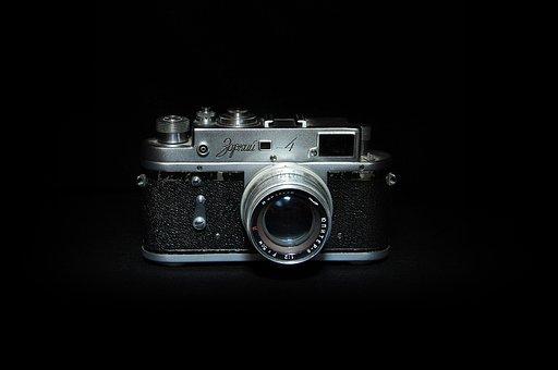 Camera, Black, Night, Studio, Photo, Equipment, Symbol