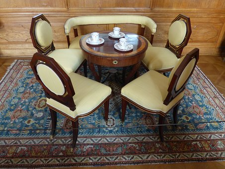 Set, Chair, Chairs, Table, Coffee, Cafe, Furniture, Old