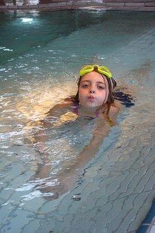 Swimming, Girl, Swimming Pool, Chlorine