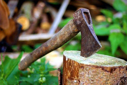 Axe, Old, Lumberjack, Blade, Background, Chop, Hatchet