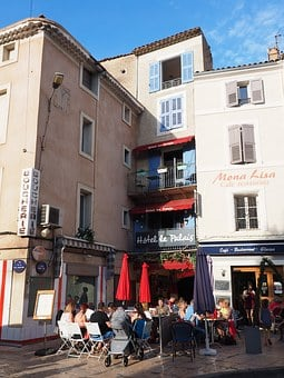 Hotel Le Palais, Downtown, Apt, France, Cafe, Hotel
