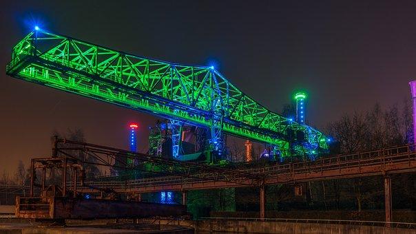Duisburg, Night Photograph, Long Exposure, Lapadu