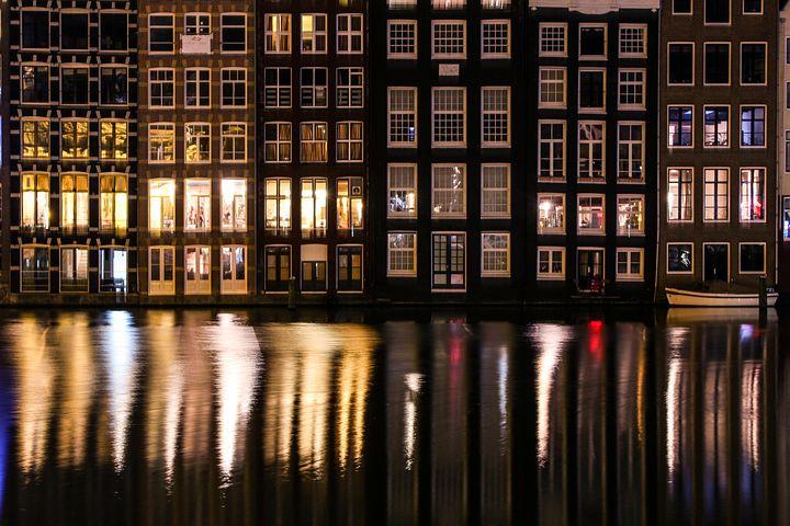 Amsterdam, Canals, Netherlands, Dutch, Building