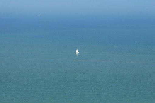 Alone, Big, Boat, Deserted, Expanse, Great, Isolated
