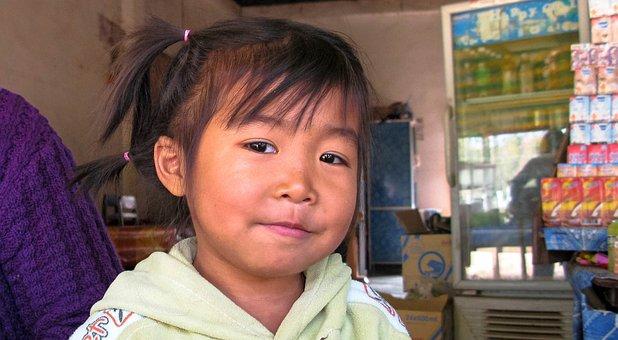 Laos, Xayaboury, Child, Children, Girl, Laotian, Asia