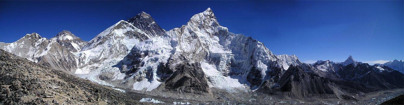 Mount Everest, Himalayas, Nuptse, Lhotse, Sagarmatha