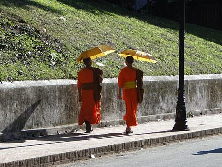 Monks, Laos, Buddhism