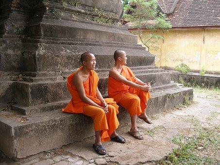 Monks, Laos Monks, Loas, South East Asia, Buddhist