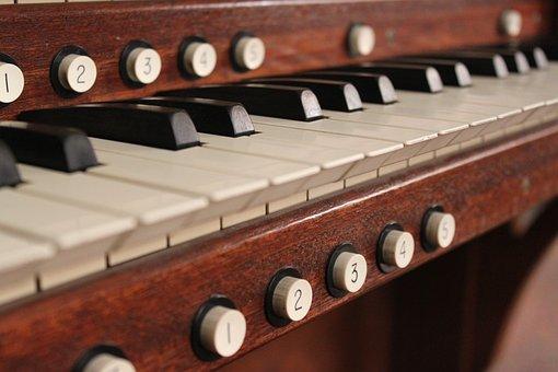 Organ, Keyboard, Music, Instrument, White, Black, Key
