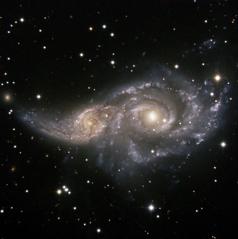 Ngc 2207, Spiral Galaxy, Light Year, Gravitation