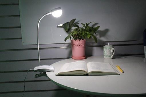 Table Lamp, Nightlight, Learning, Open The Book, Reed