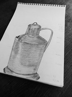 Drawing, Drawing Lessons, Sketch, Pot, Block, Paper