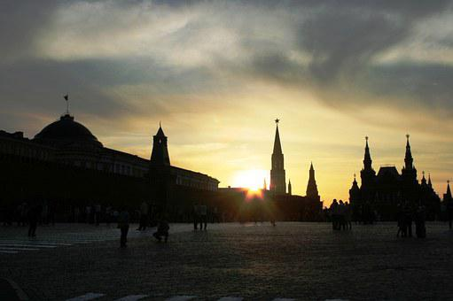 Sunset, Glow, Luminescence, Red Square, Paving