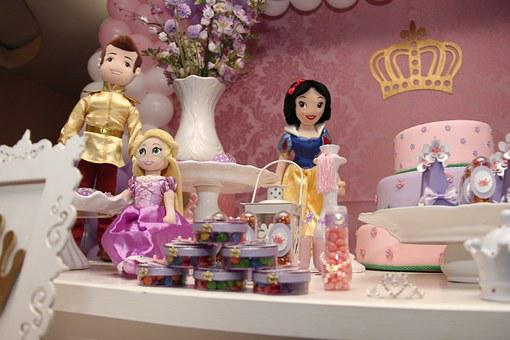 Day, Princess, Birthday, Cake, Girl, Children, Dolls