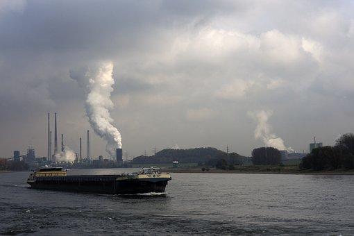 Shipping, Rhine, River, Water, Germany, Ship, Duisburg