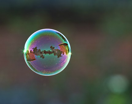 Bubble, Ball, Fly, Reflection, Air, Romance