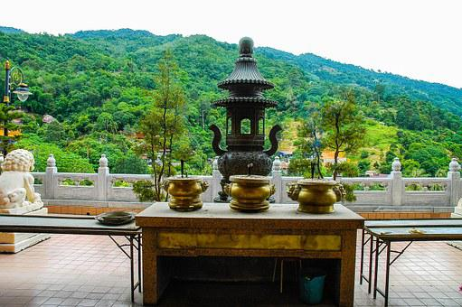 Sacrificial Table, Temple, Malaysia
