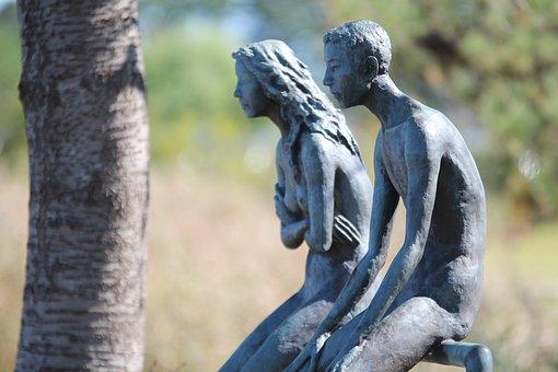 Statue, Sculpture, Art, Model, Lovers, Unisex, Man