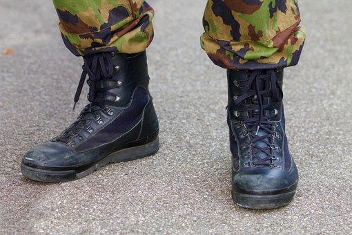 Ordonanzschuhe, Shoes, Combat Boots, Camo Pants