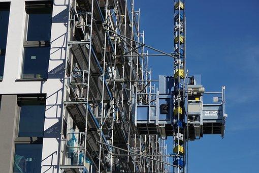 Crane, Site, Construction, Construction Work