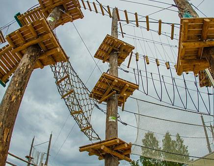 Ropes, Park, Adventure, Sky, Climbing, Sport, Activity