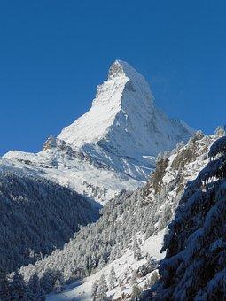 Alpine, Mountain, Snow, Landscape, Matterhorn, Zermatt